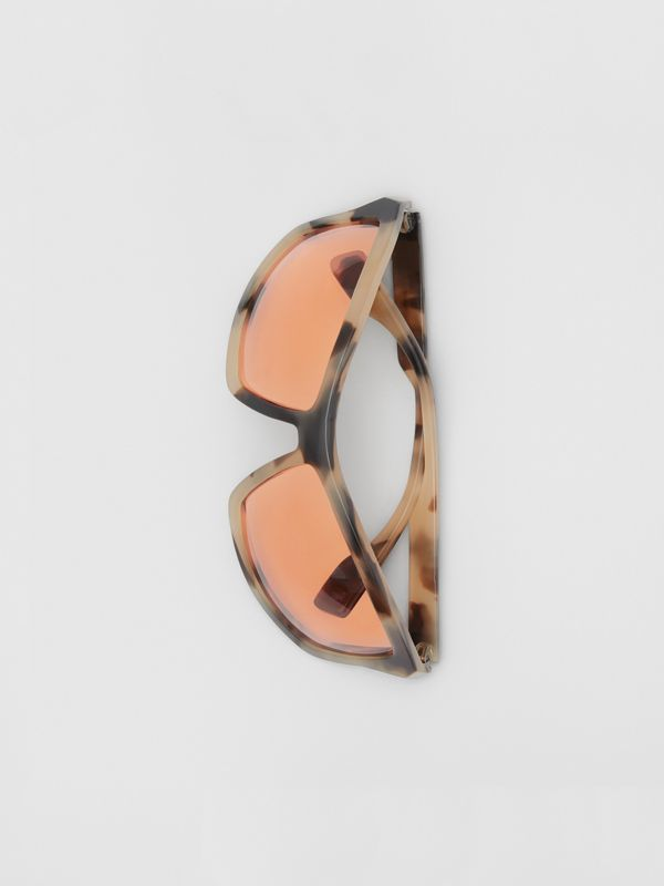 Wrap Frame Sunglasses in Orange - Men | Burberry - cell image 3