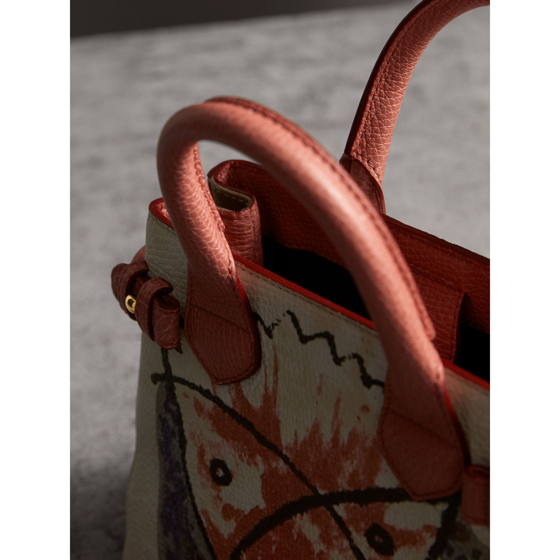 The Baby Banner in Leather with Pallas Heads Print in Cinnamon Red - Women | Burberry - gallery image 5