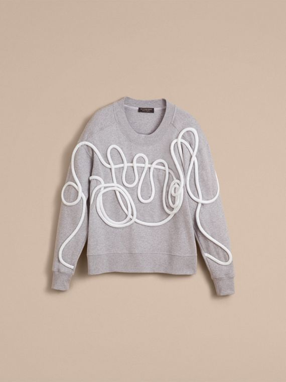Unisex Rope Detail Sweatshirt - Men | Burberry - cell image 3