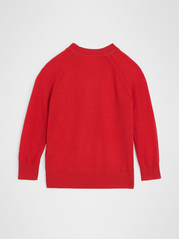 Crew Neck Cashmere Sweater in Burgundy Red | Burberry United Kingdom - cell image 3