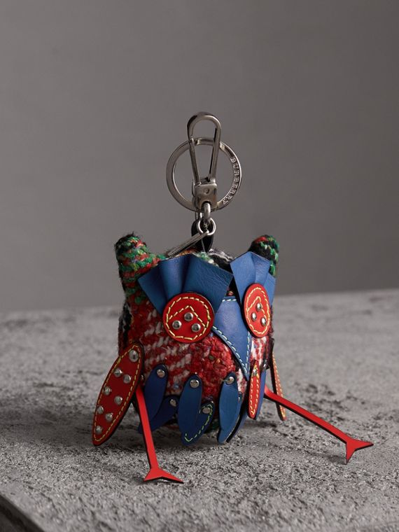Mavis The Owl Wool Silk Blend Charm in Cornflower Blue