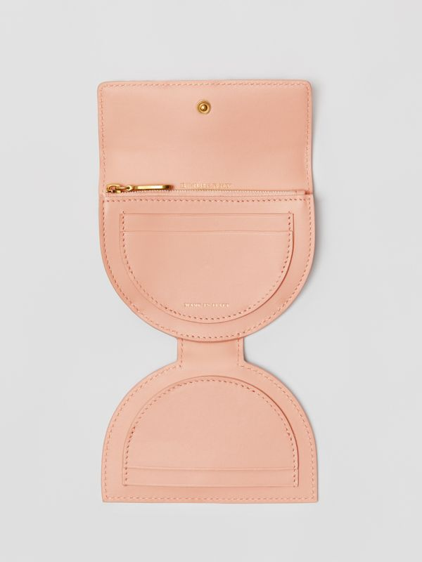 D-ring Detail Patent Leather Coin Case in Pale Fawn Pink - Women | Burberry - cell image 3