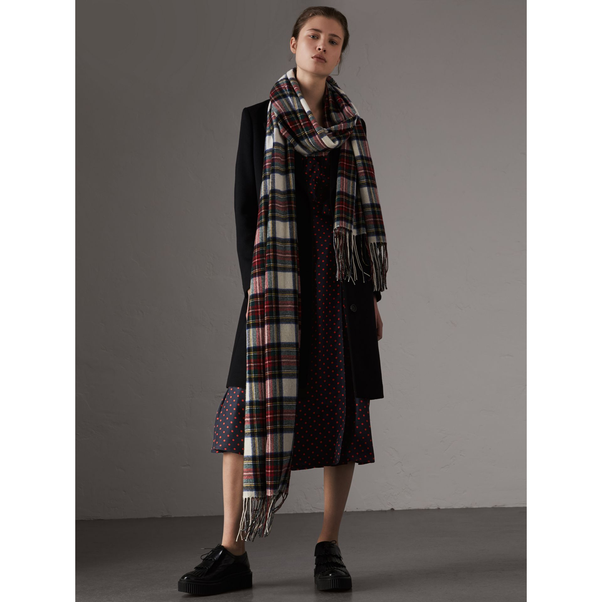 Wool Cashmere Tailored Coat in Black - Women | Burberry - gallery image 1