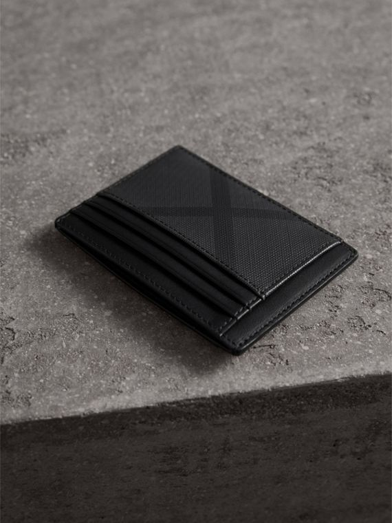 London Check Card Case in Charcoal/black - Men | Burberry Singapore - cell image 2