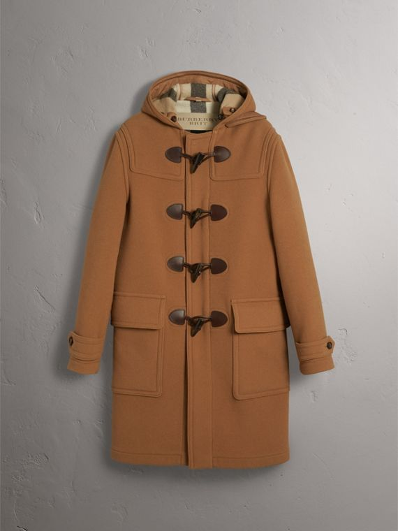 Wool-Blend Duffle Coat in Camel - Men | Burberry - cell image 3