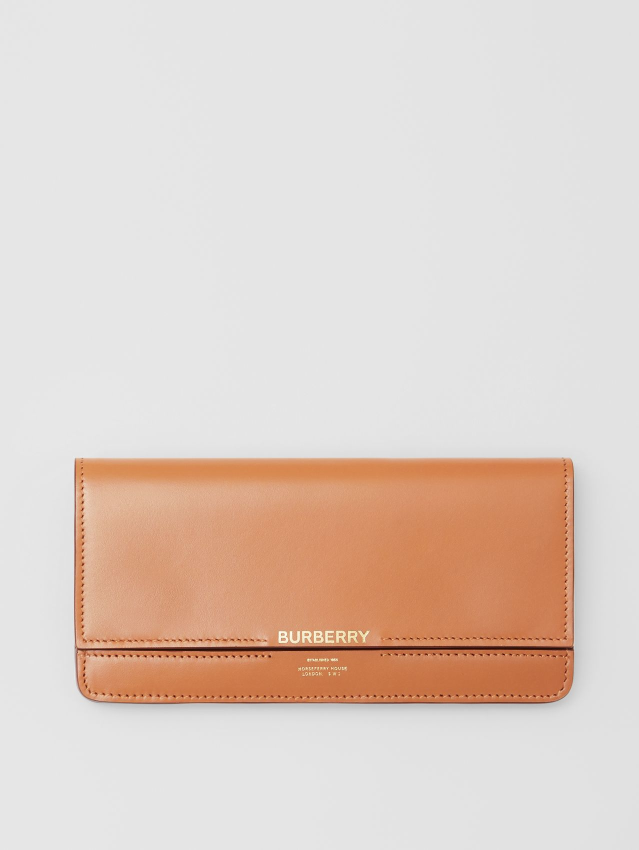 Horseferry Embossed Leather Continental Wallet (Nutmeg)