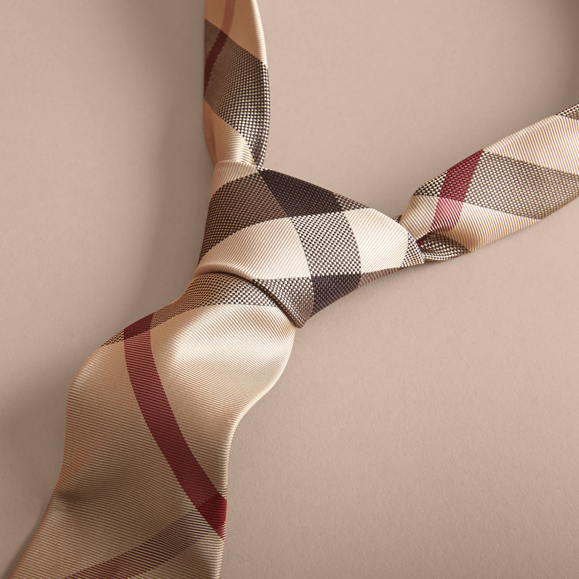 Modern Cut Check Silk Tie in New Classic - Men | Burberry Canada - gallery image 2