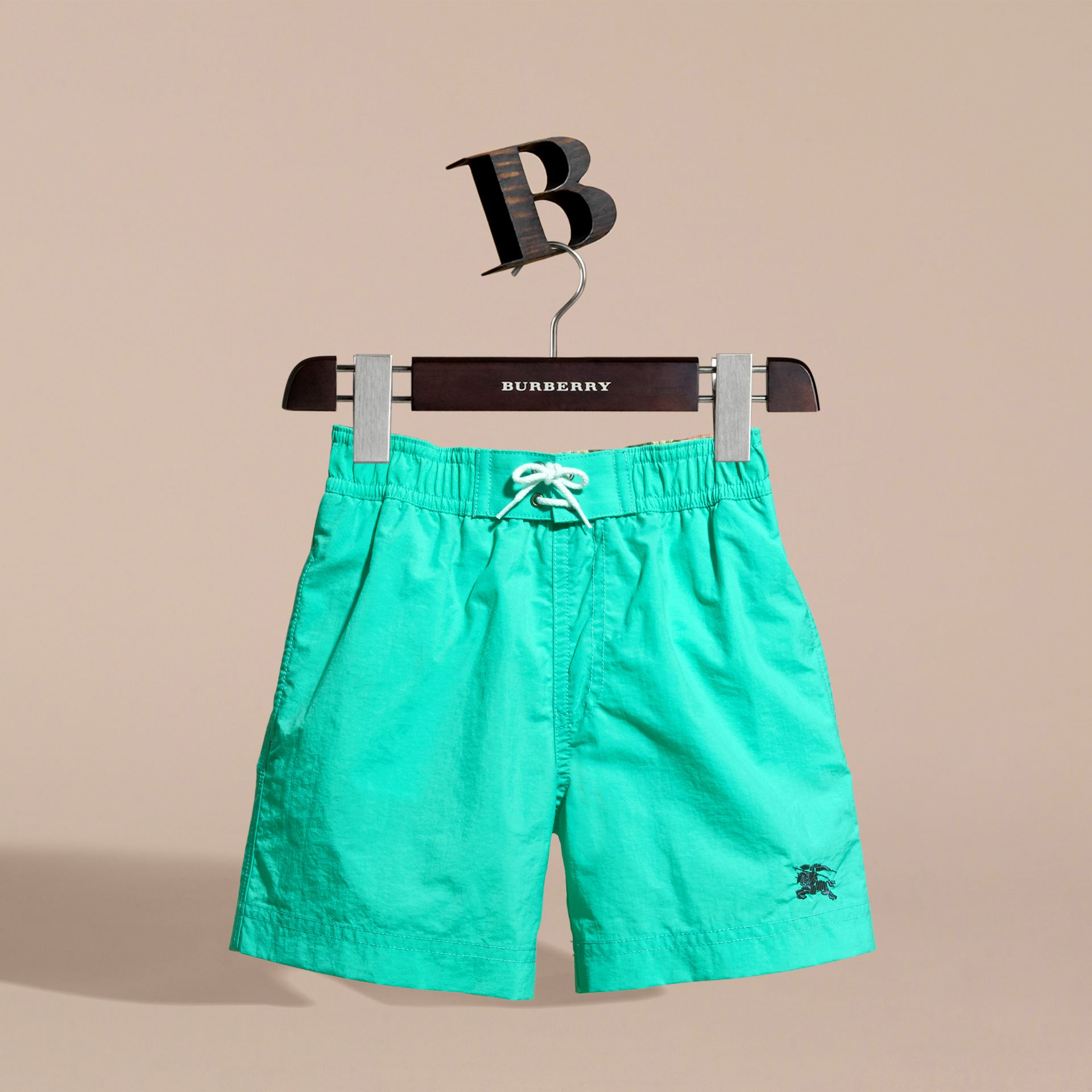 Lightweight Swim Shorts in Aqua Green | Burberry - gallery image 3