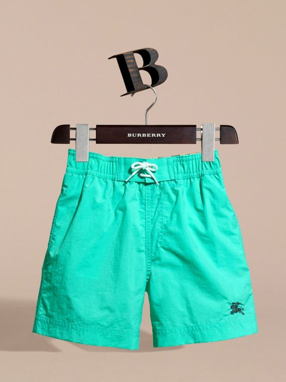 Lightweight Swim Shorts in Aqua Green - Boy | Burberry - cell image 2