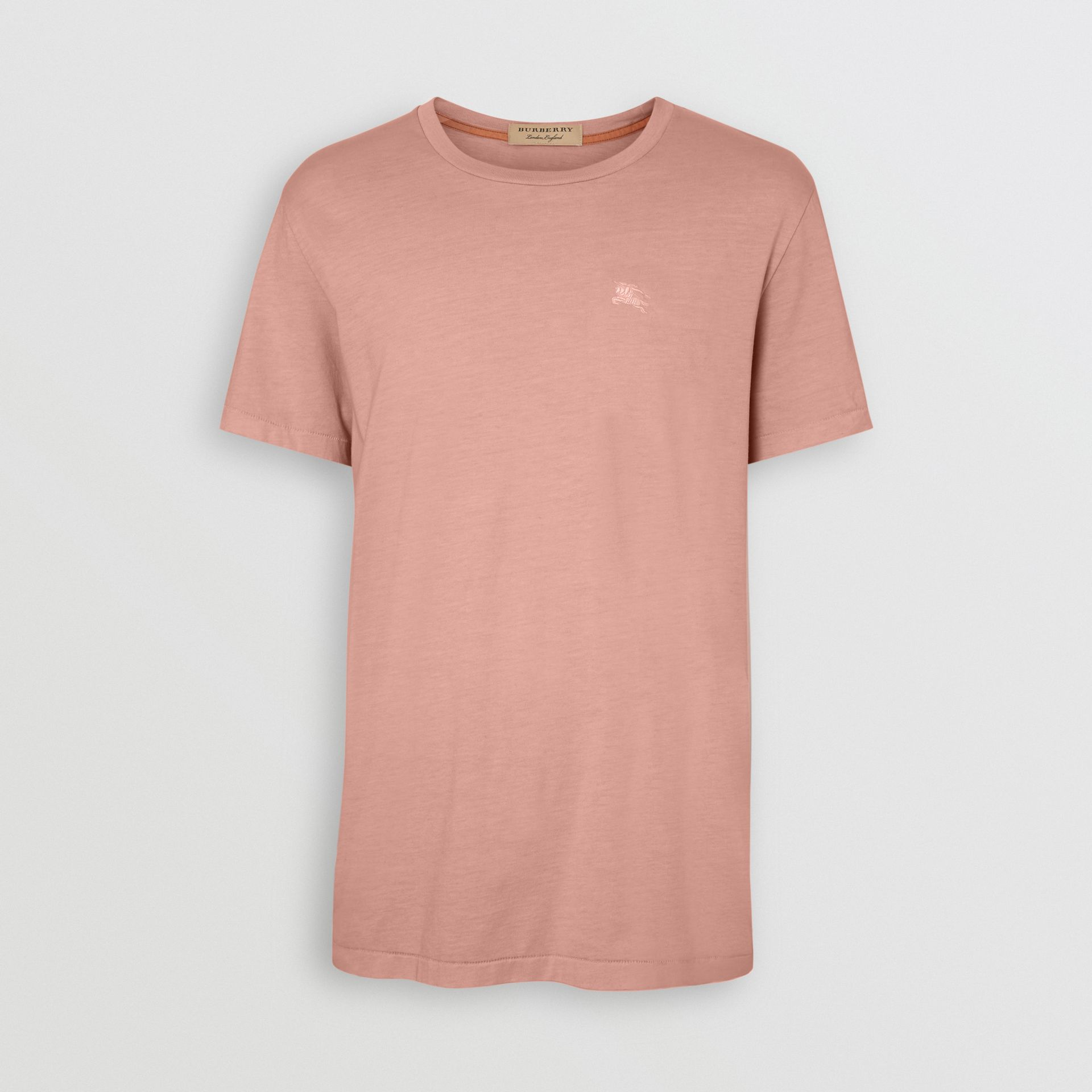 Cotton T-shirt in Chalk Pink - Men | Burberry Australia - gallery image 3