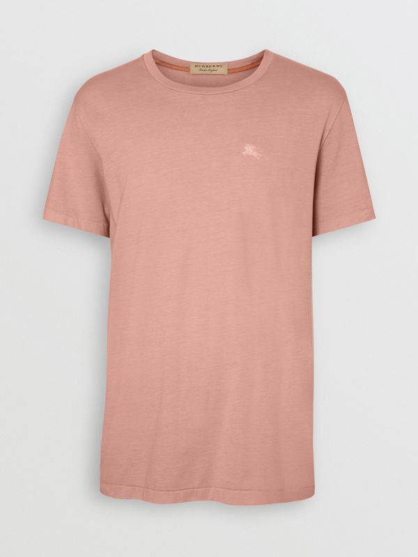 Cotton T-shirt in Chalk Pink - Men | Burberry - cell image 3