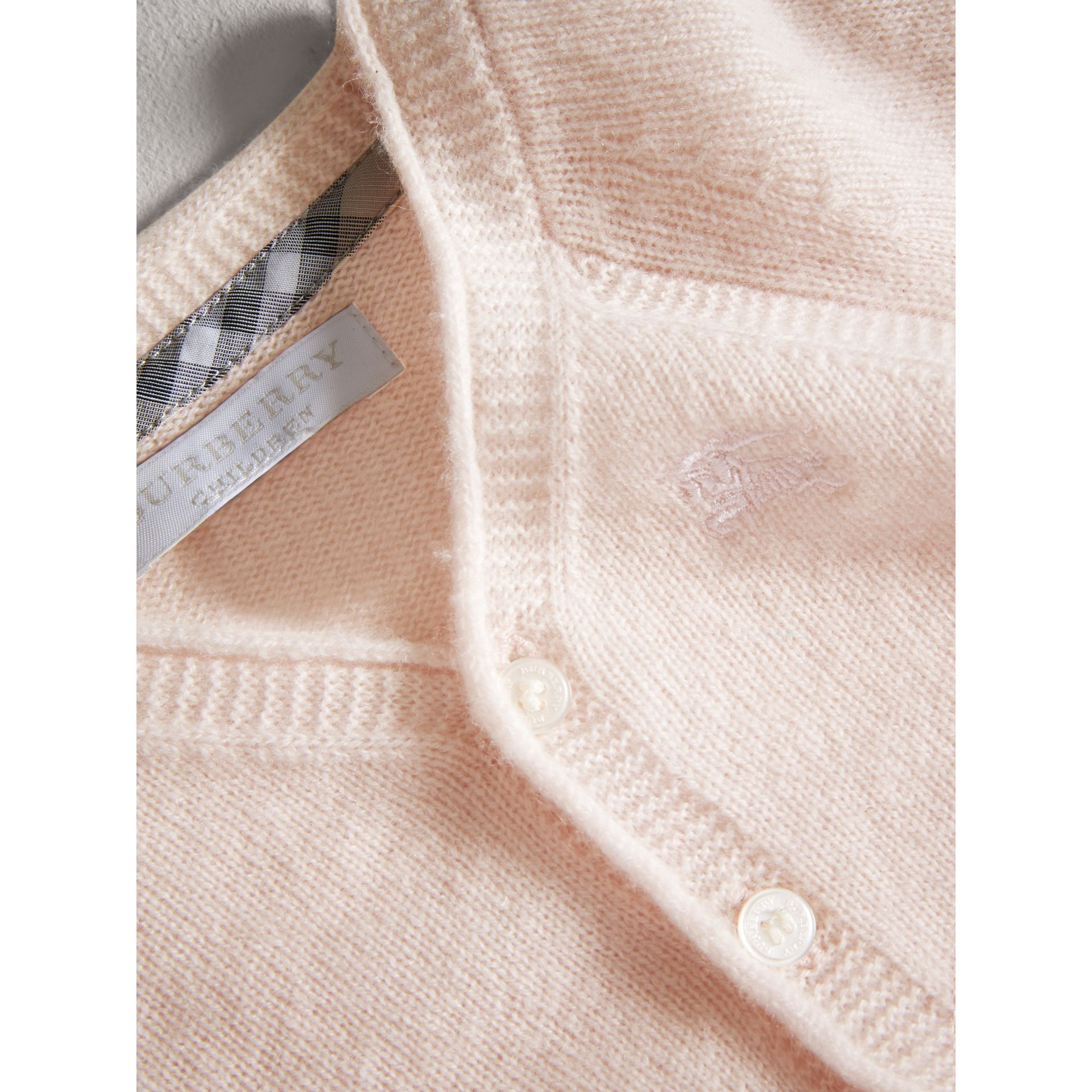 Classic Cashmere Cardigan in Powder Pink | Burberry - gallery image 1