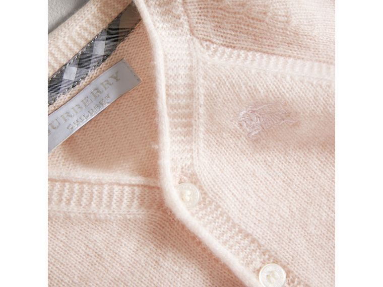 Classic Cashmere Cardigan in Powder Pink | Burberry - cell image 1
