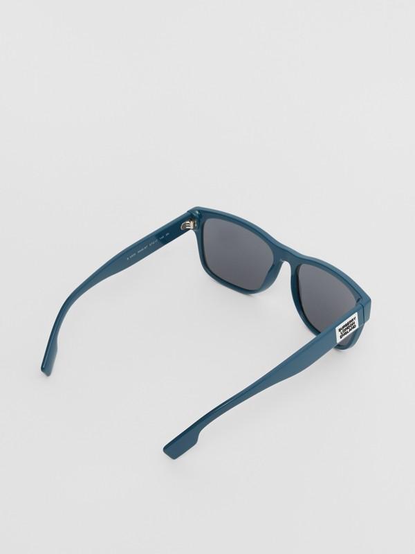 Logo Appliqué Square Frame Sunglasses in Deep Blue - Men | Burberry - cell image 3