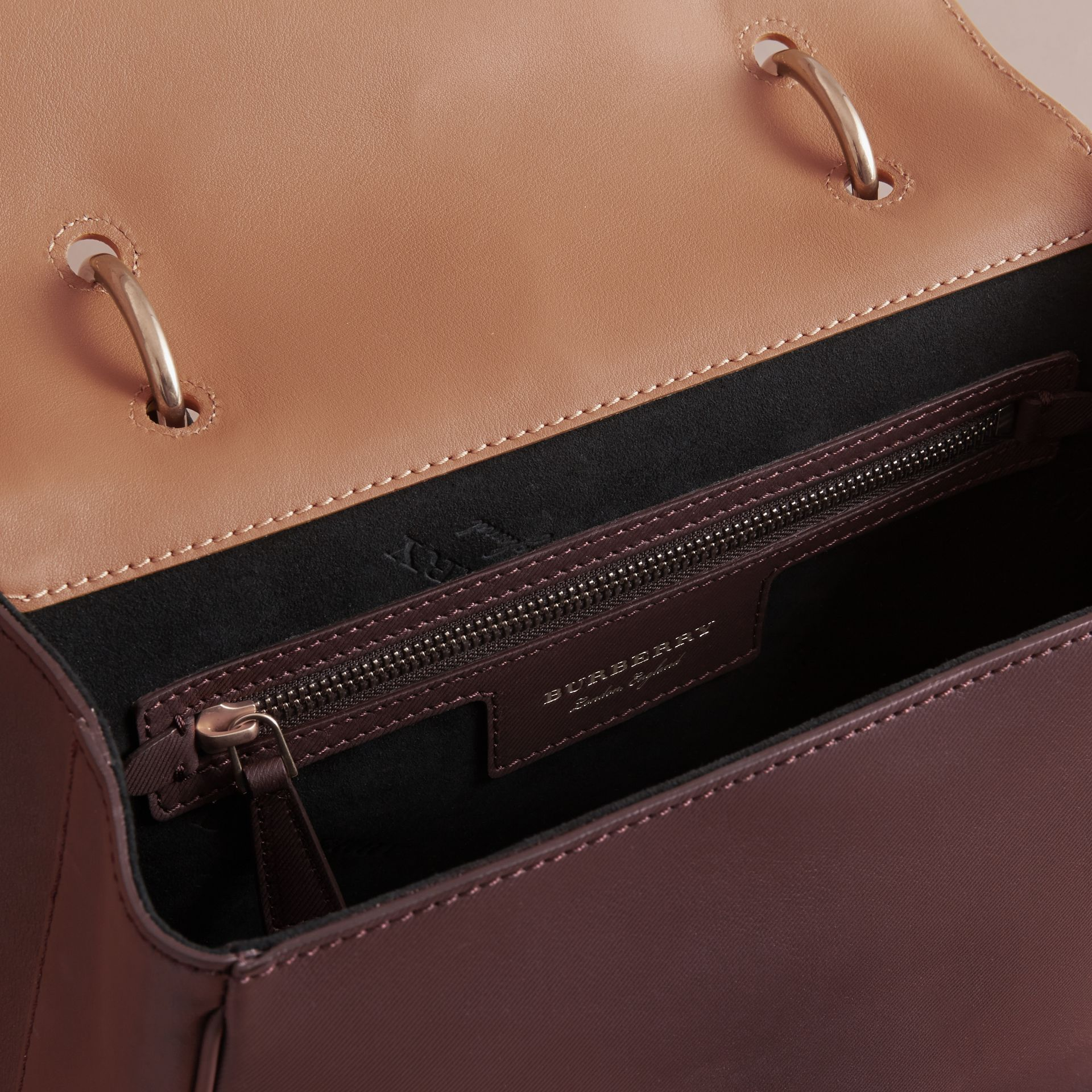 The Medium DK88 Top Handle Bag in Dark Chocolate/ochre Yellow - Women | Burberry - gallery image 4