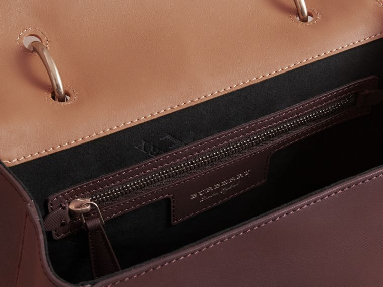 The Medium DK88 Top Handle Bag in Dark Chocolate/ochre Yellow - Women | Burberry - cell image 4