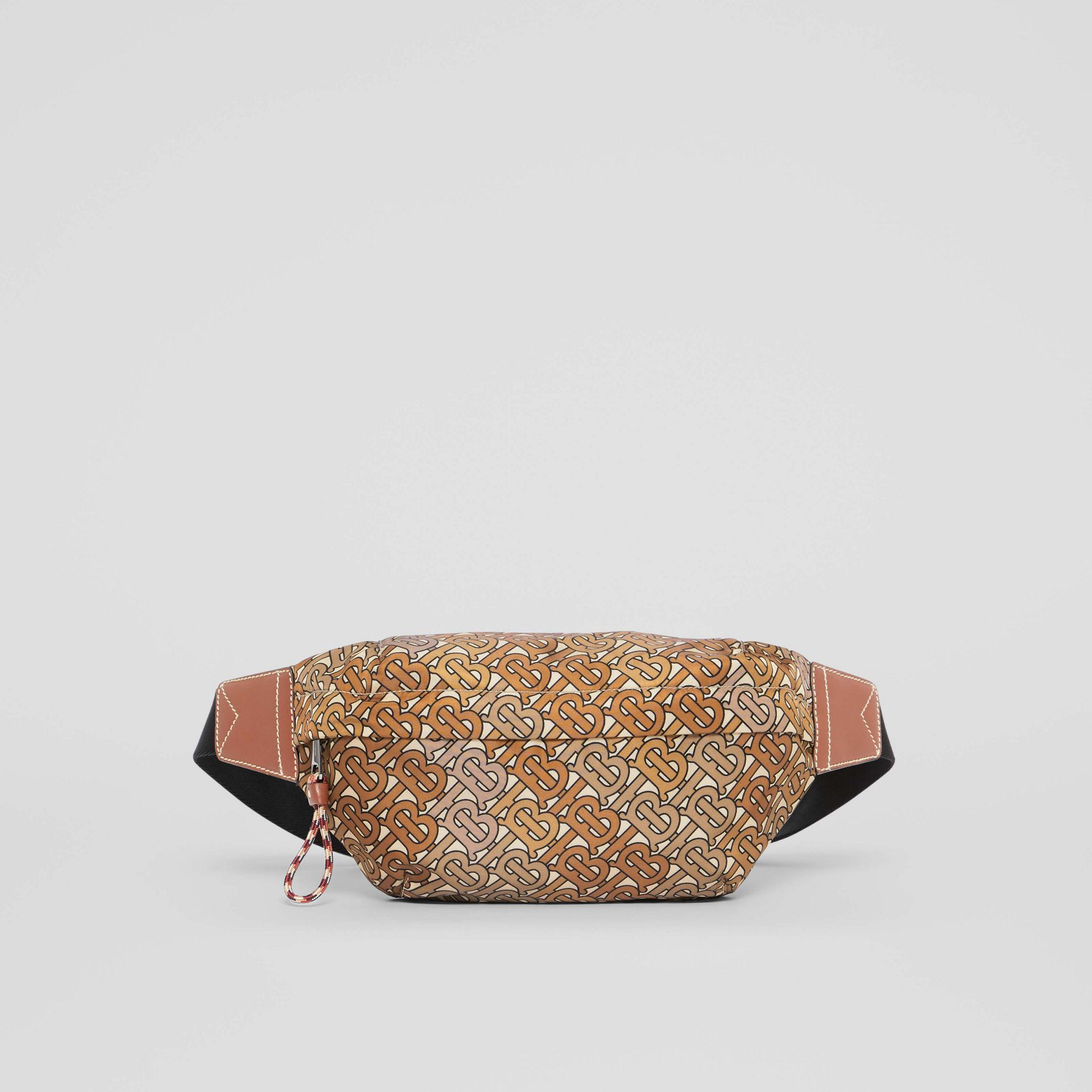 Medium Monogram Print Bum Bag in Camo Brown - Men | Burberry - gallery image 0