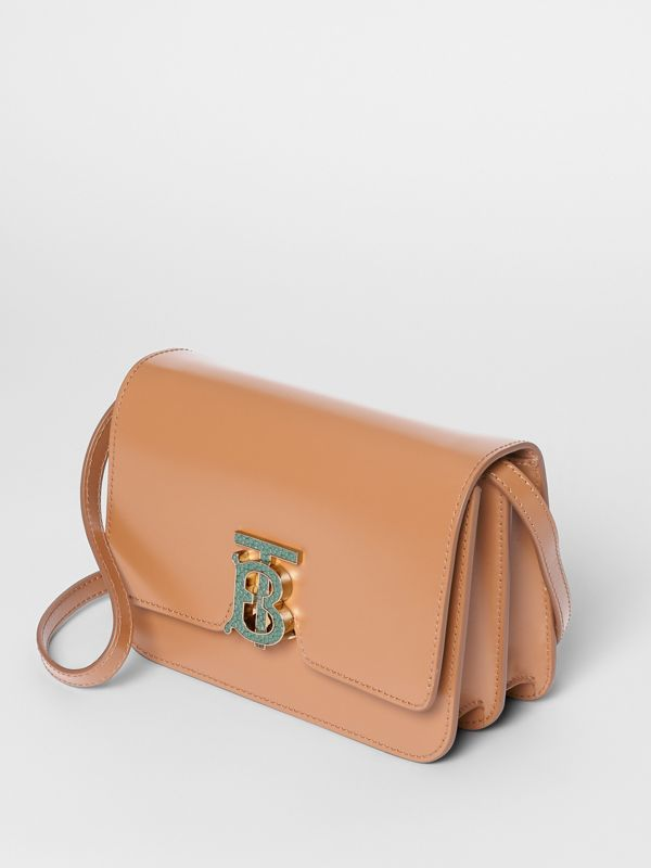 Small Leather TB Bag in Flaxseed - Women | Burberry - cell image 3