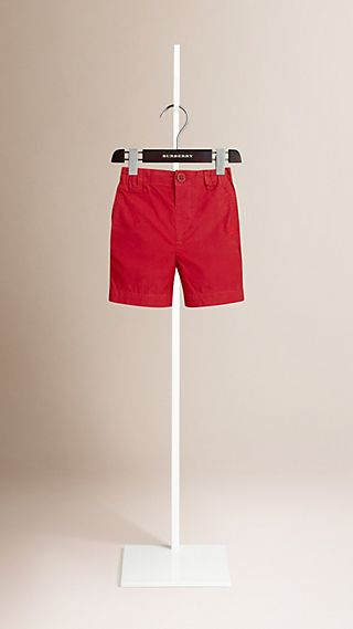Cotton Military Chino Shorts