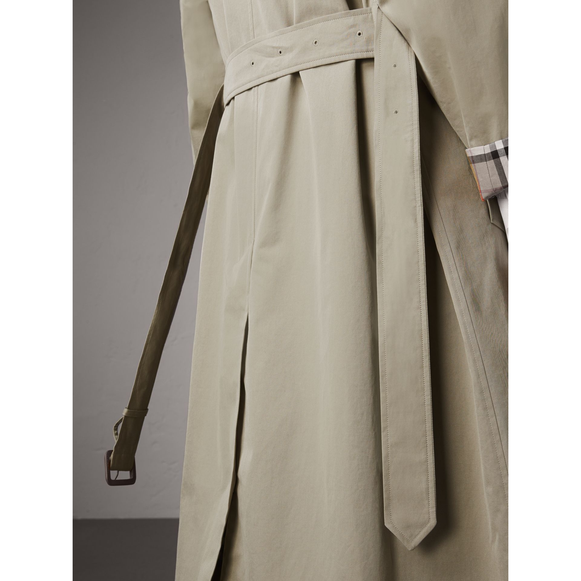 The Brighton – Extra-long Car Coat in Sandstone - Women | Burberry Singapore - gallery image 6