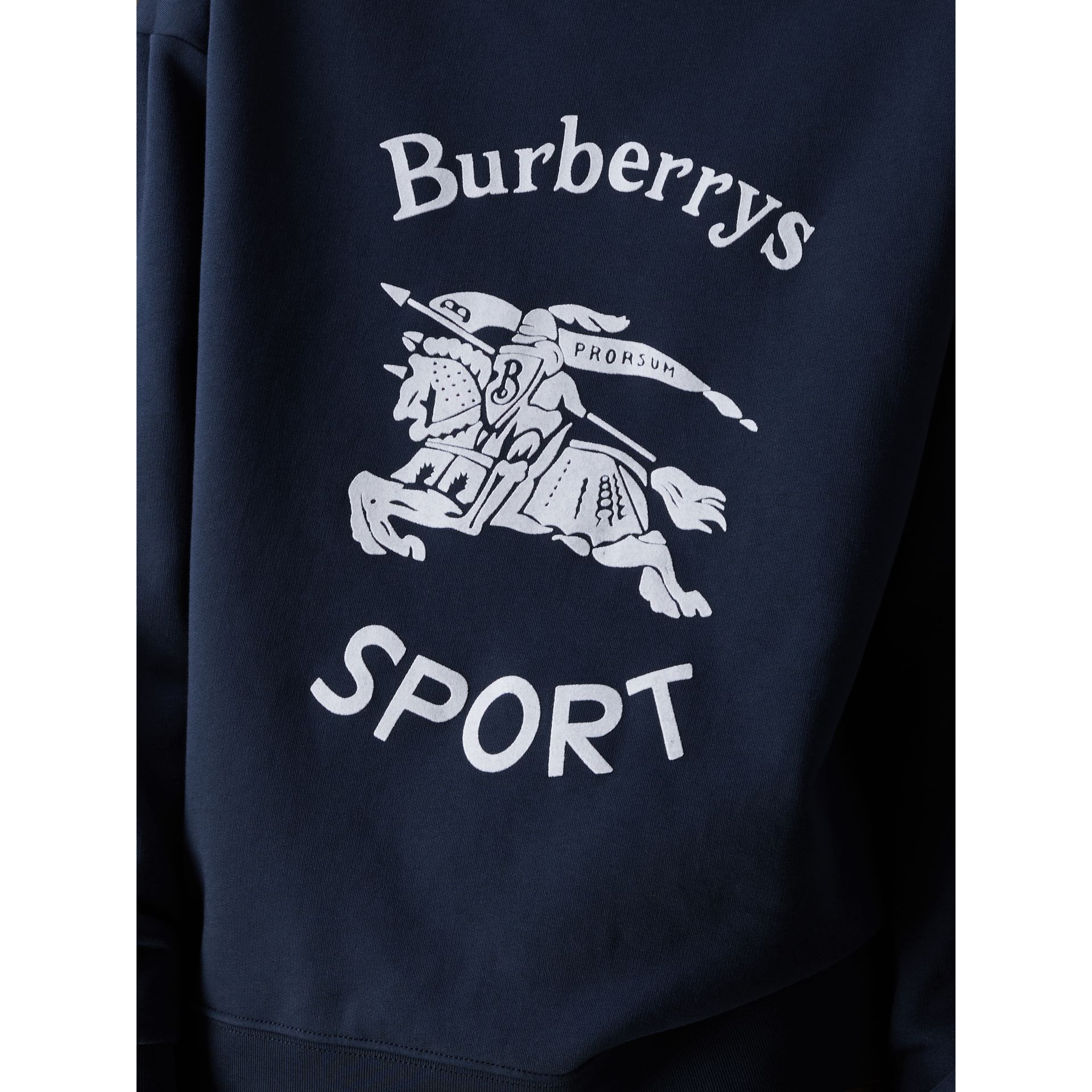 Reissued Jersey Sweatshirt in Navy Blue - Women | Burberry Hong Kong - gallery image 1