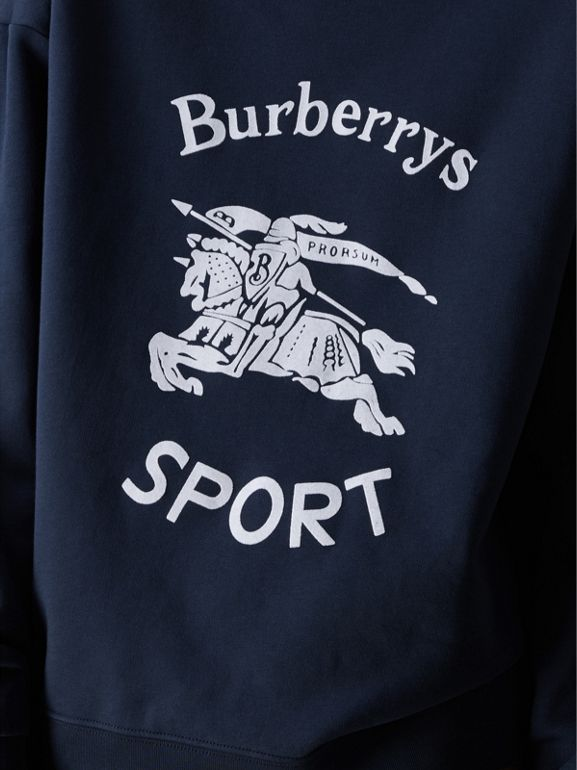 Reissued Jersey Sweatshirt in Navy Blue - Women | Burberry Hong Kong - cell image 1