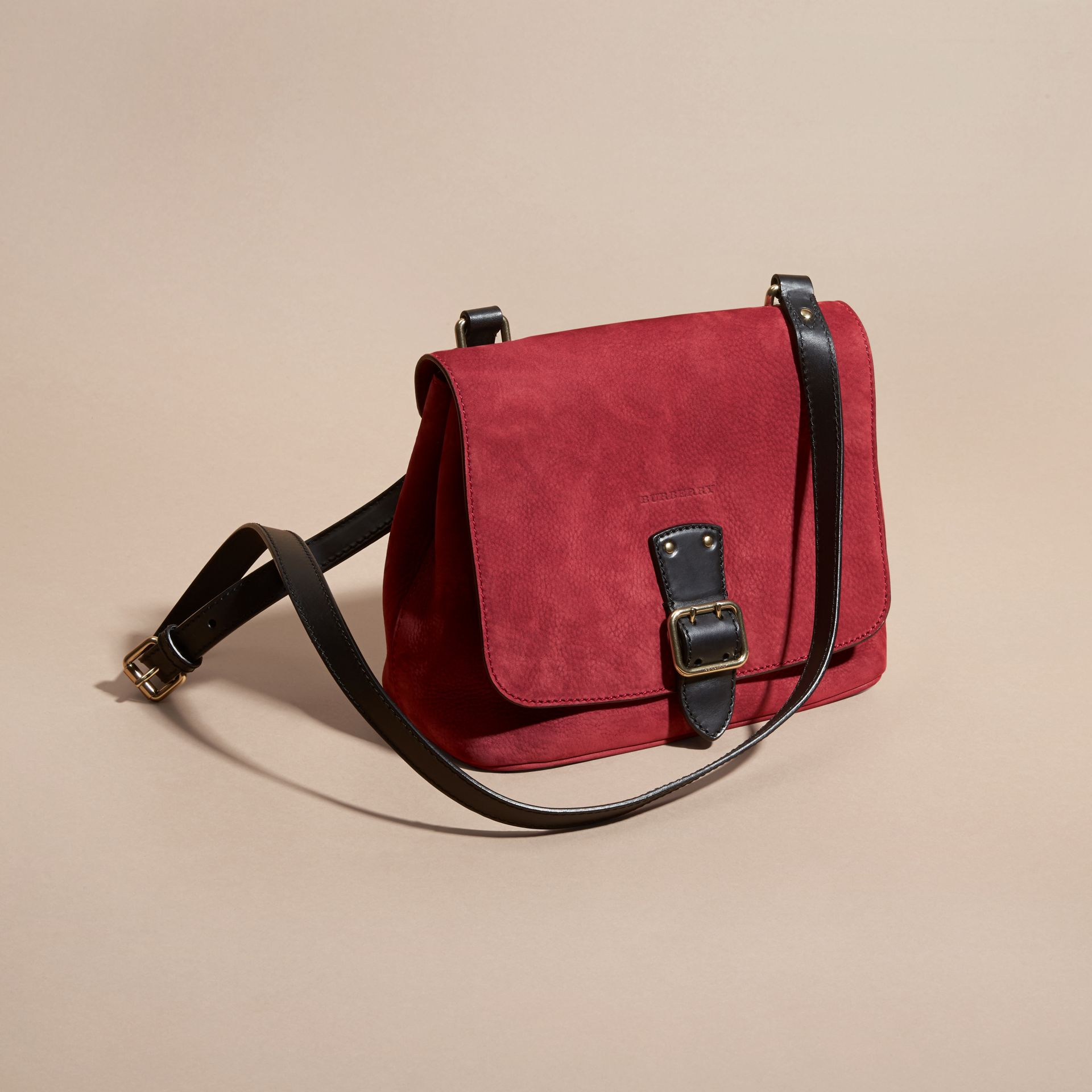 Cherry Grainy Nubuck Crossbody Bag - gallery image 7