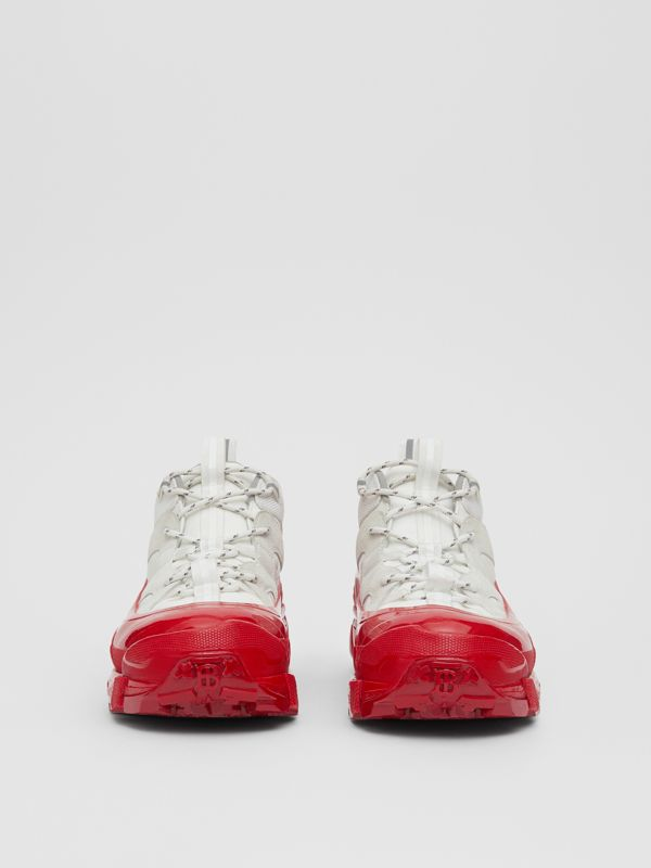 Nylon and Suede Arthur Sneakers in White | Burberry United States - cell image 3