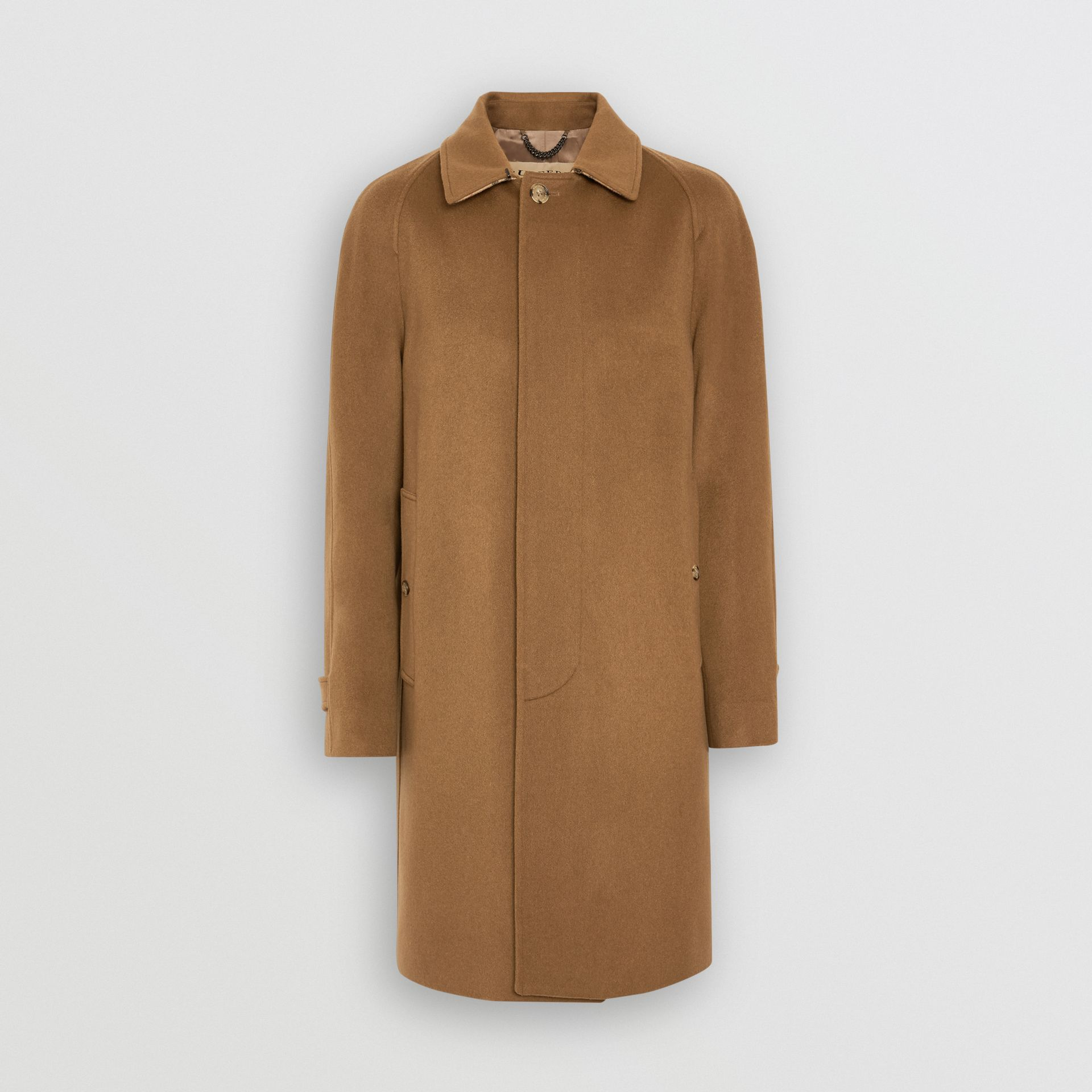 Cashmere Car Coat in Dark Camel - Men | Burberry United Kingdom - gallery image 3