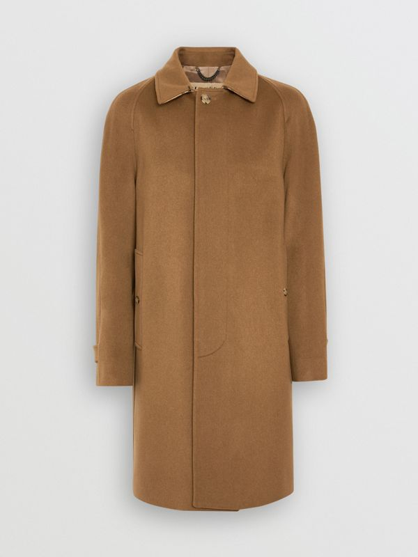 Cashmere Car Coat in Dark Camel - Men | Burberry Australia - cell image 3
