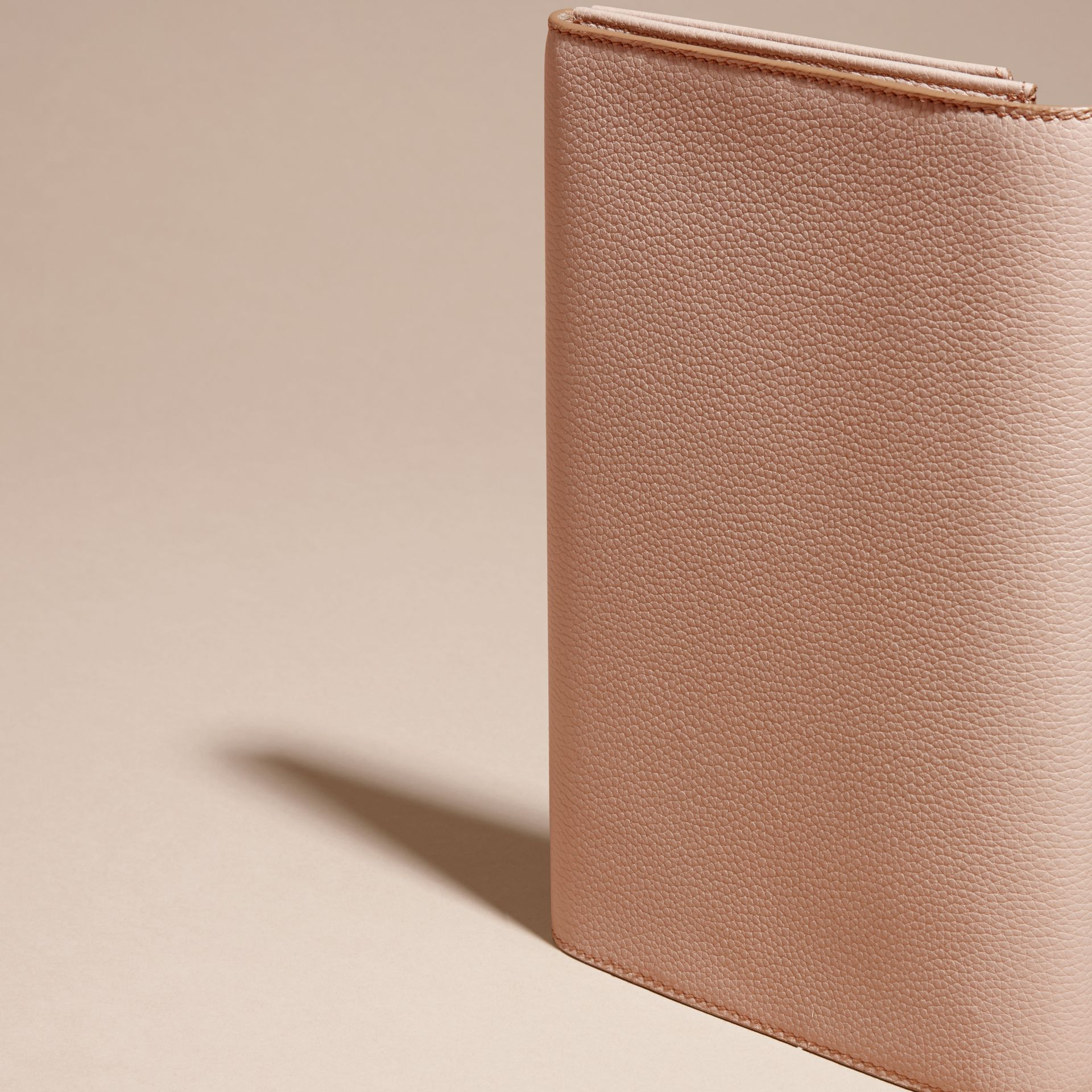Pale apricot Grainy Leather Travel Wallet Pale Apricot - gallery image 4