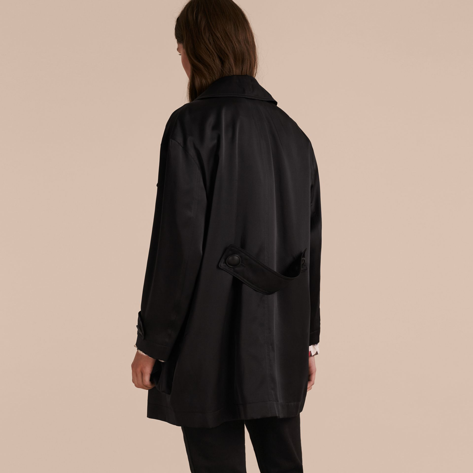 Check Undercollar Silk Field Jacket - gallery image 3