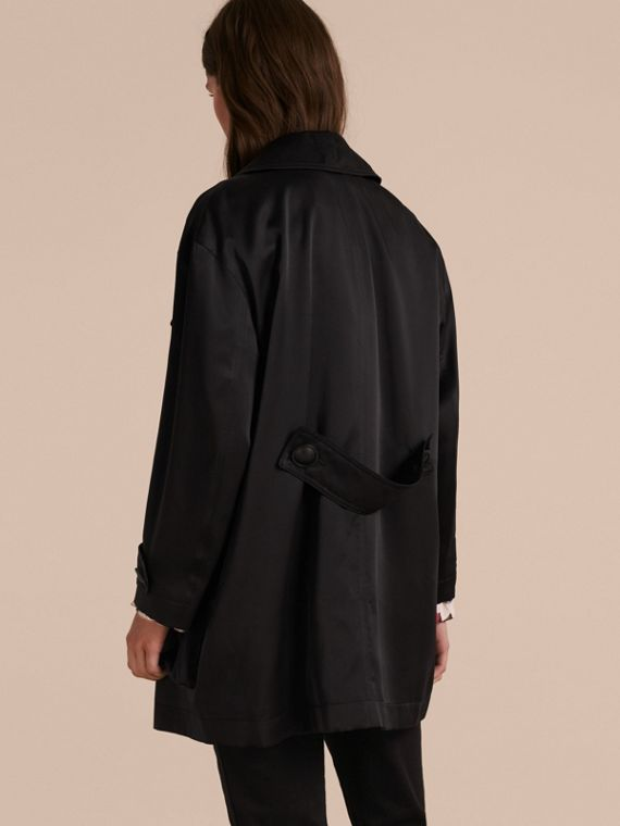 Black Check Undercollar Silk Field Jacket - cell image 2