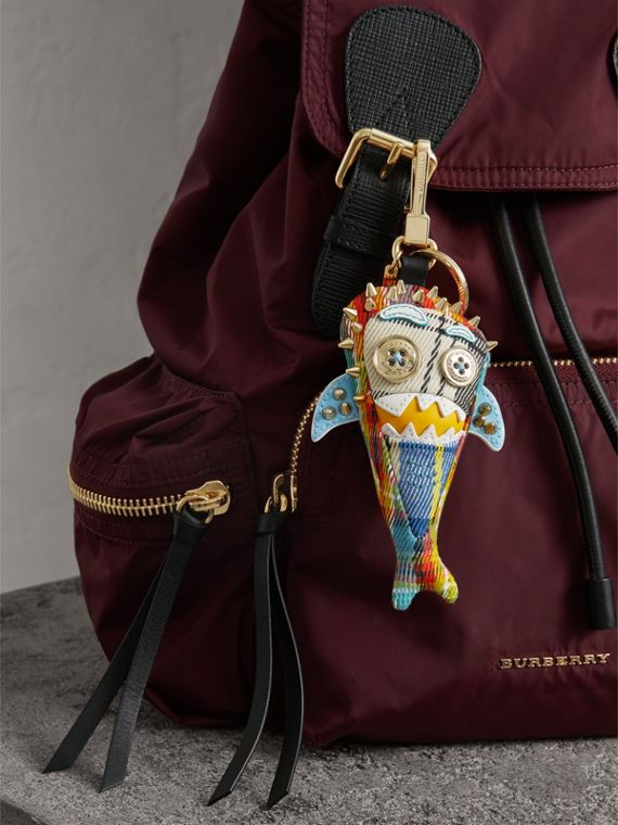 Walter the Shark Cotton Charm in Blue Multicolour | Burberry - cell image 2