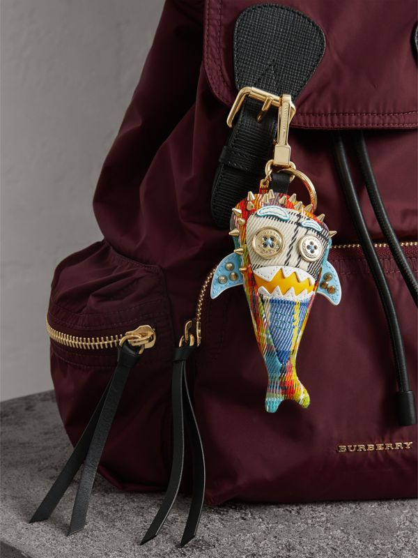 Walter the Shark Cotton Charm in Blue Multicolour | Burberry United Kingdom - cell image 2