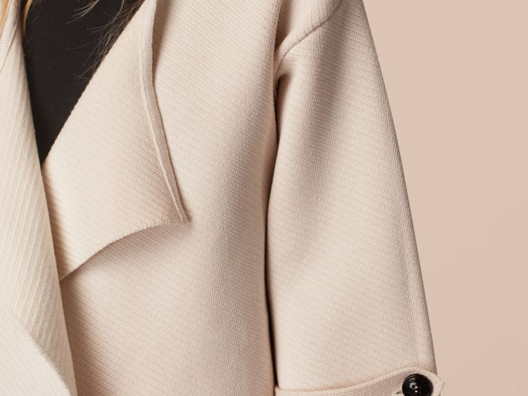 Natural white Knitted Silk Wool Cashmere Blend Jacket - cell image 1