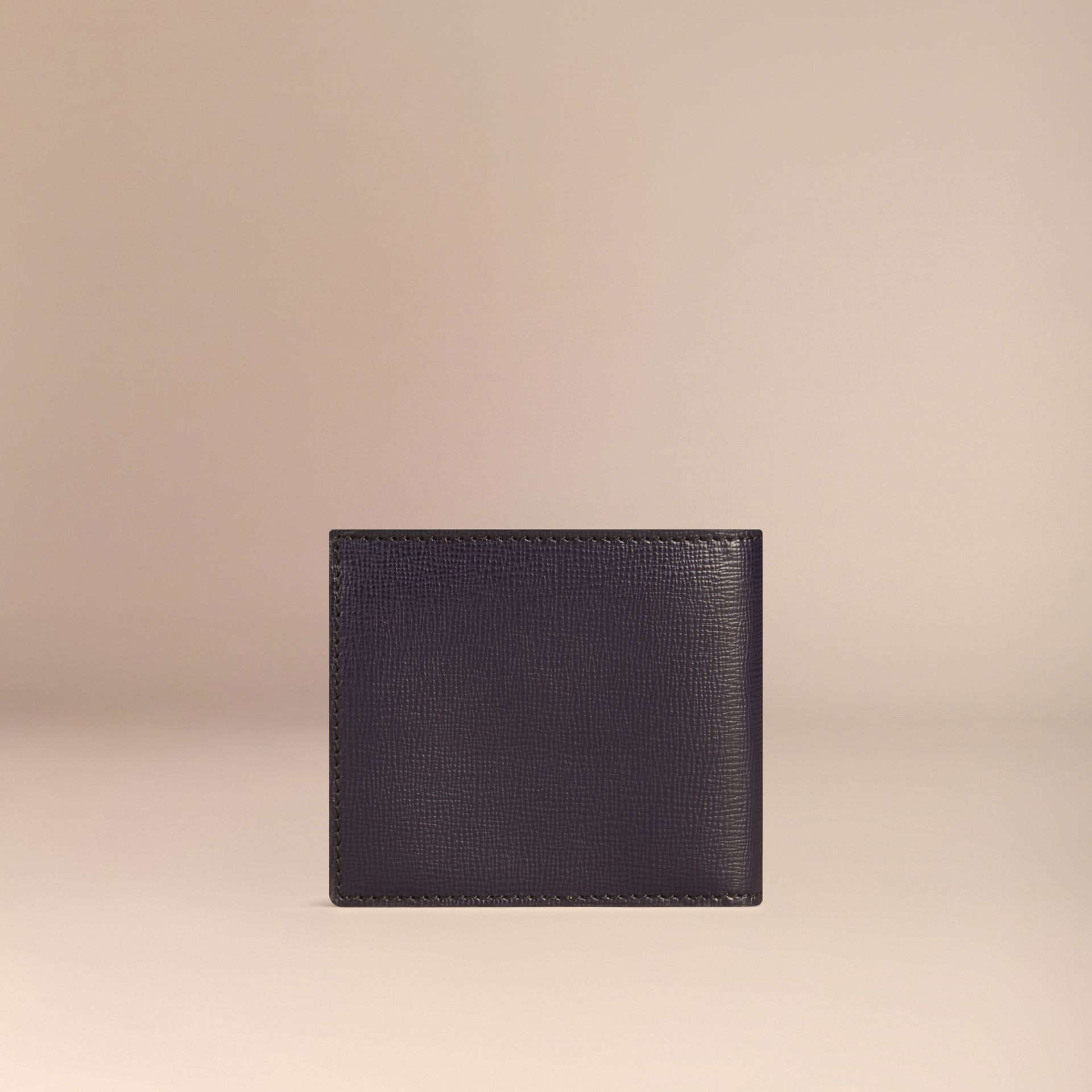 London Leather International Bifold Coin Wallet in Dark Navy - Men | Burberry - gallery image 2