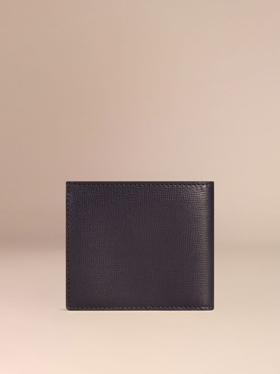 London Leather Folding Coin Wallet Dark Navy - cell image 2
