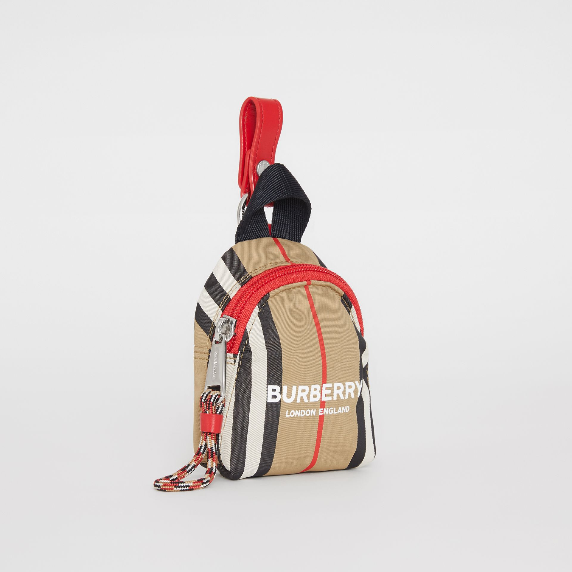 Logo Print Icon Stripe Coin Case in Archive Beige - Children | Burberry - gallery image 2