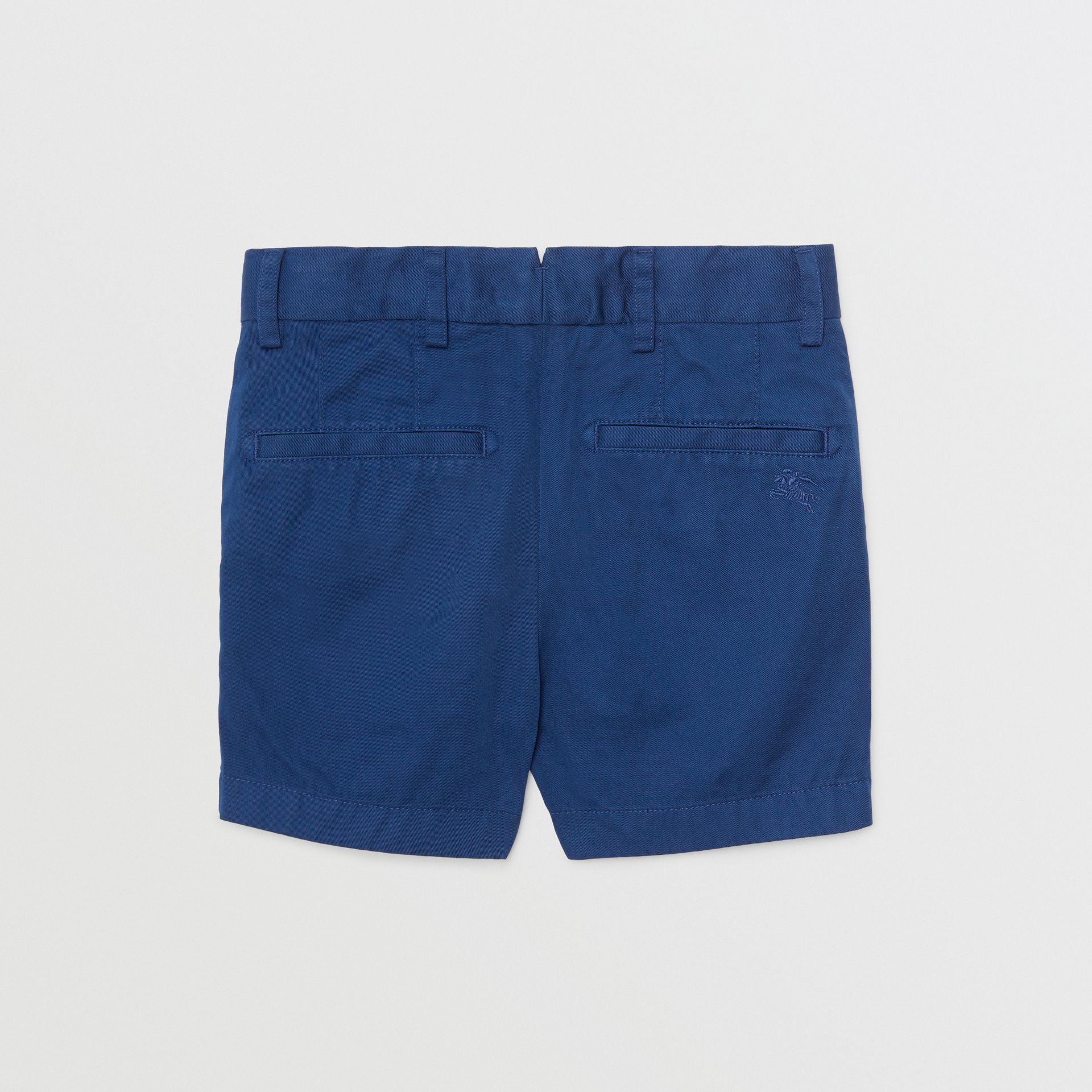 Cotton Chino Shorts in Bright Navy | Burberry United States - gallery image 3