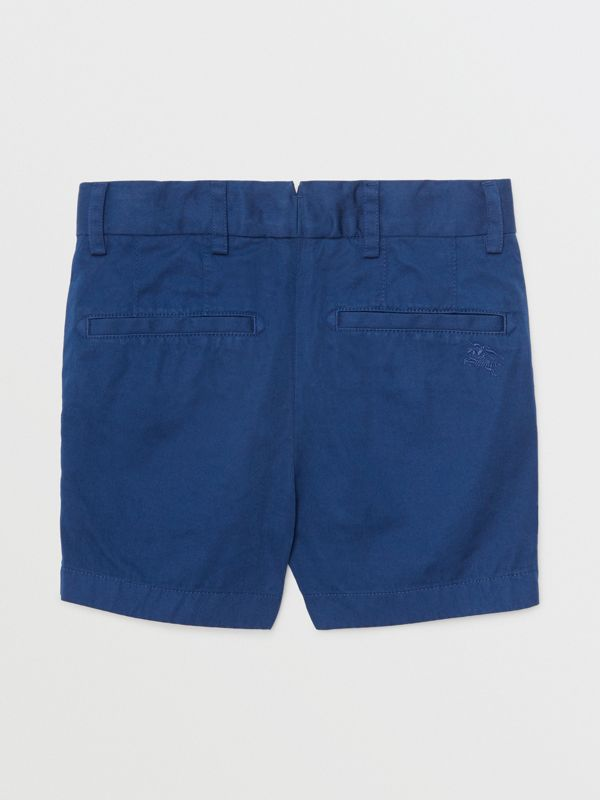 Cotton Chino Shorts in Bright Navy | Burberry United States - cell image 3