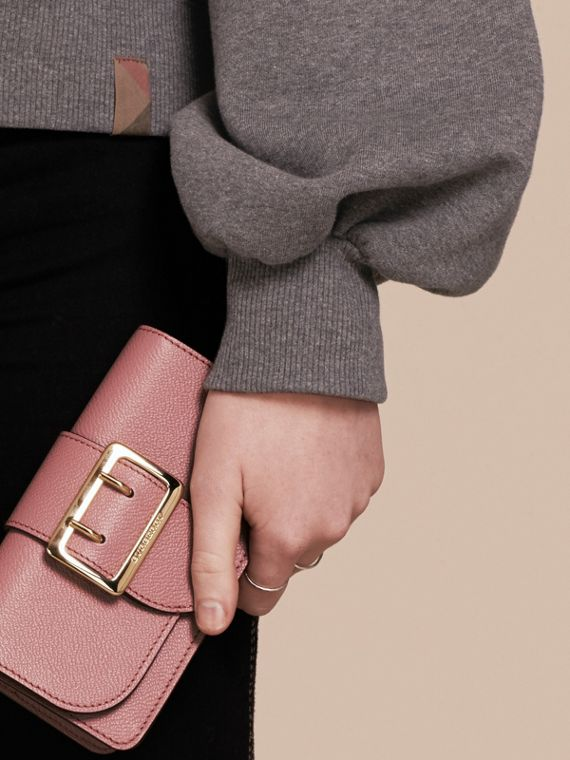 The Mini Buckle Bag in Grainy Leather Dusty Pink - cell image 3