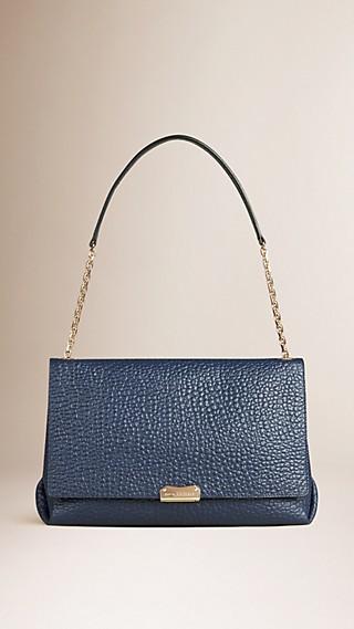 Large Signature Grain Leather Shoulder Bag
