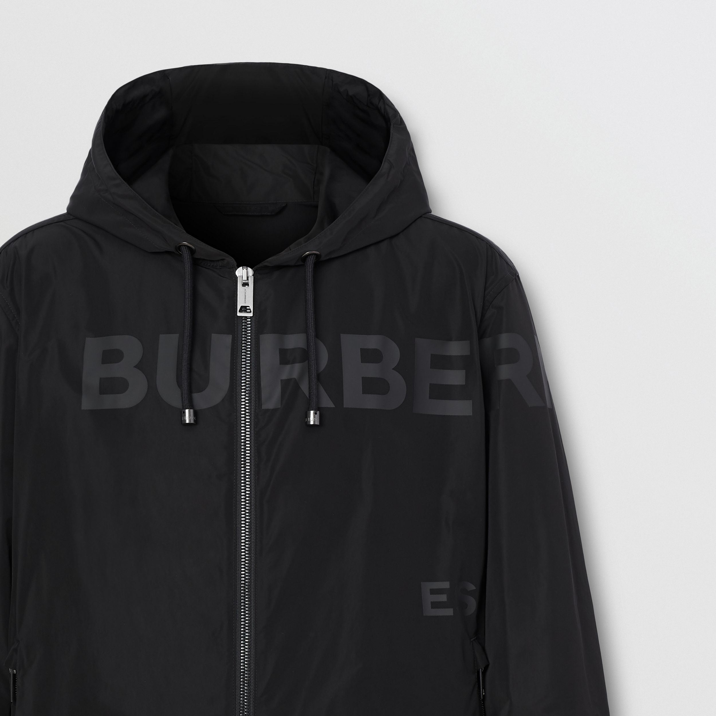 Horseferry Print Shape-memory Taffeta Hooded Jacket in Black - Men | Burberry - 3