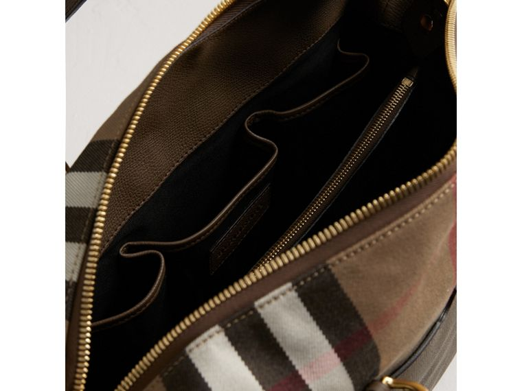 House Check and Leather Baby Changing Bag in Taupe Grey | Burberry Singapore - cell image 4