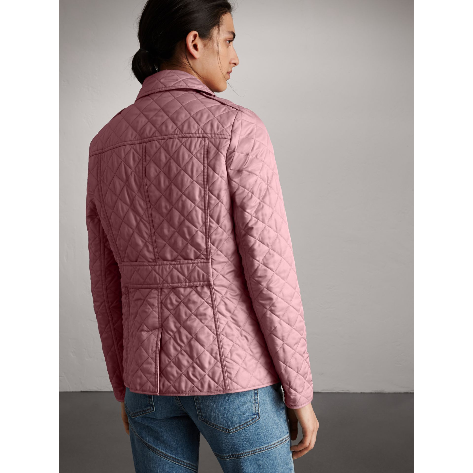 Diamond Quilted Jacket in Vintage Rose - Women | Burberry - gallery image 3