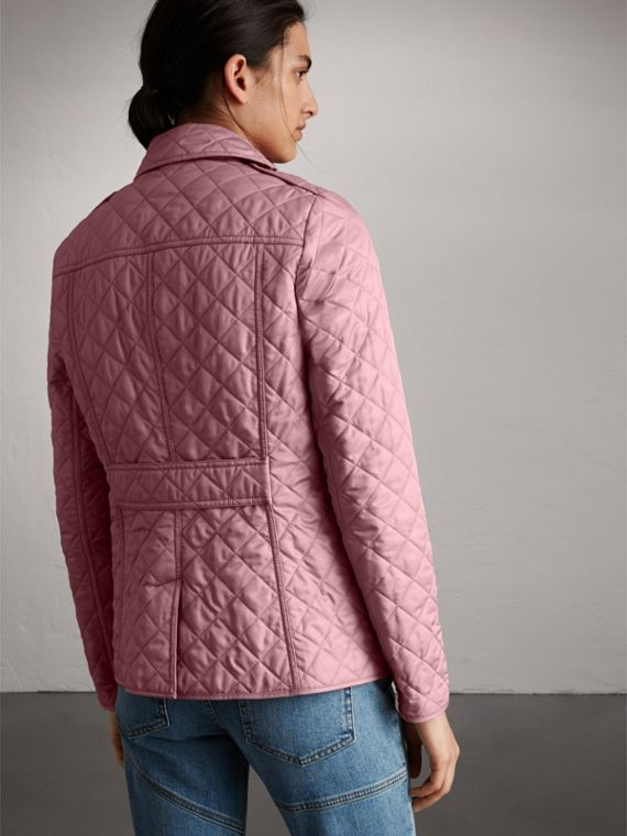 Diamond Quilted Jacket in Vintage Rose - Women | Burberry - cell image 2