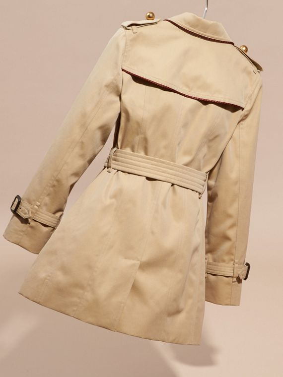 Cotton Gabardine Trench Coat with Regimental Piping - cell image 3