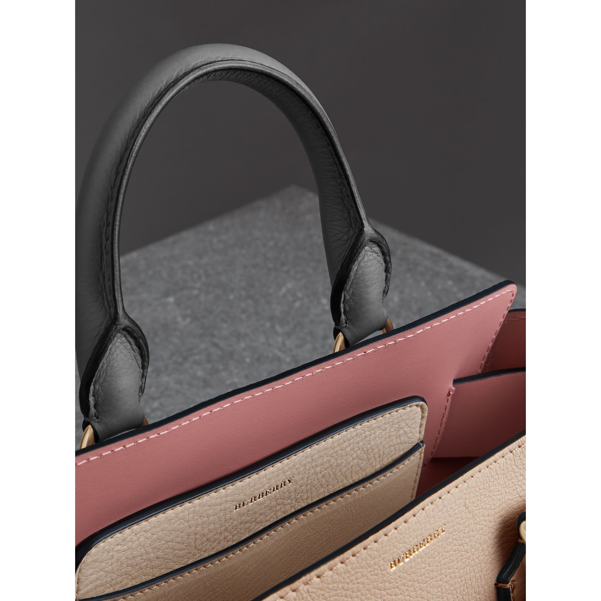 The Small Tri-tone Leather Belt Bag in Limestone/dusty Rose - Women | Burberry United Kingdom - gallery image 5