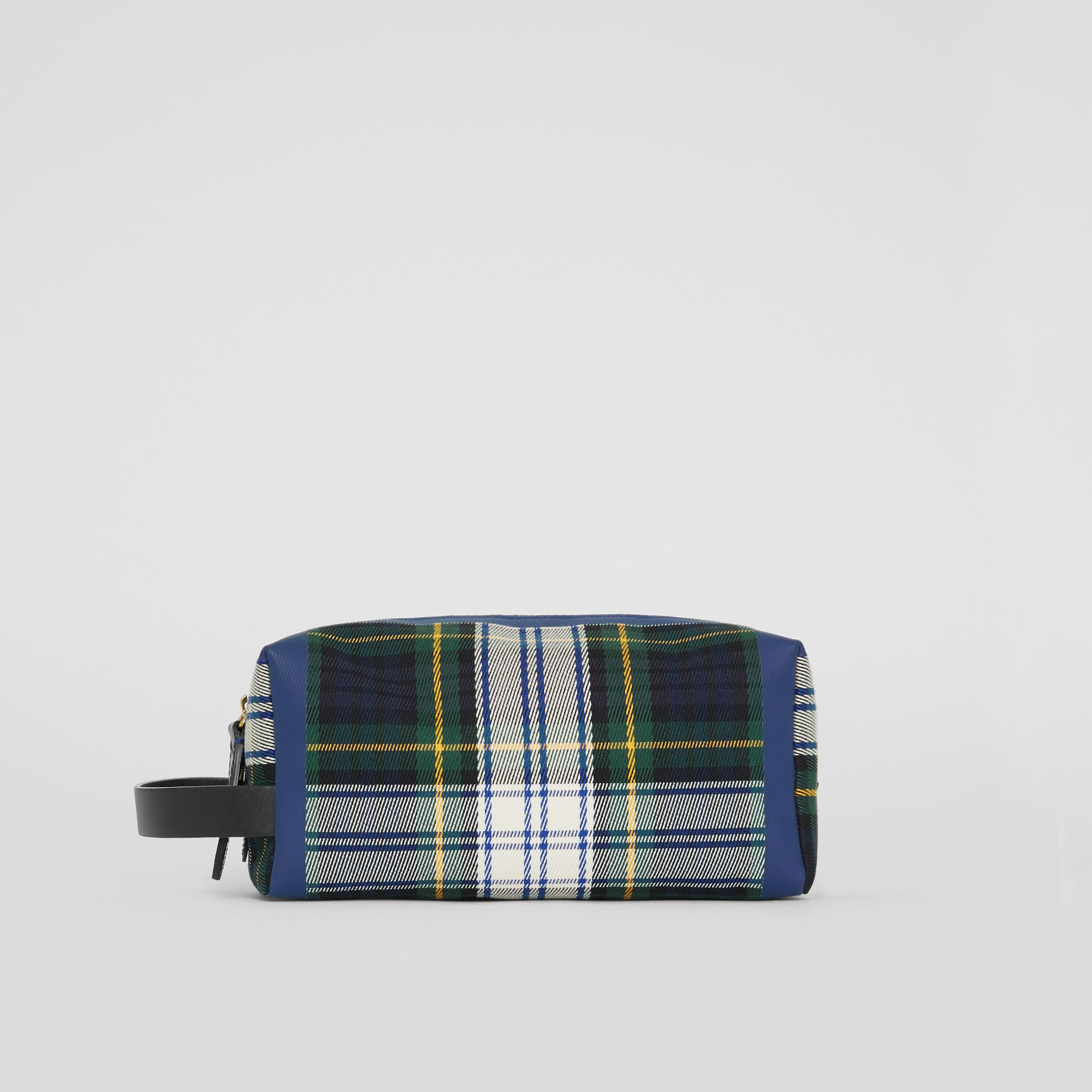 Tartan Cotton Pouch in Limestone | Burberry - gallery image 4